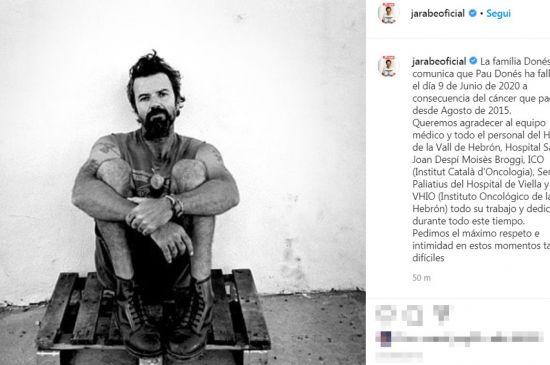 Addio a Pau Donés, il leader degli Jarabe de Palo muore a 53 anni